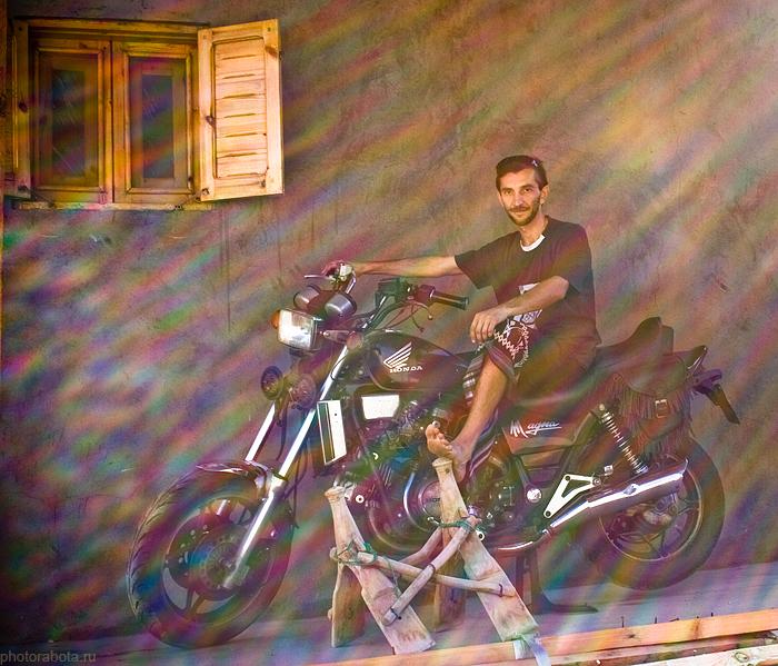 мотоцикл в Дахабе, Египетт