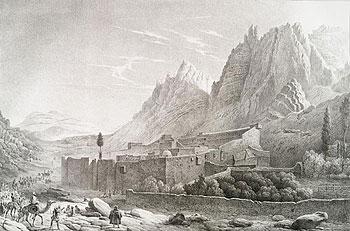 Монастырь св. вмч. Екатерины. Рисунок XIX в.
