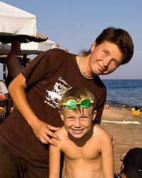 Юля Плеханова с сыном Егором